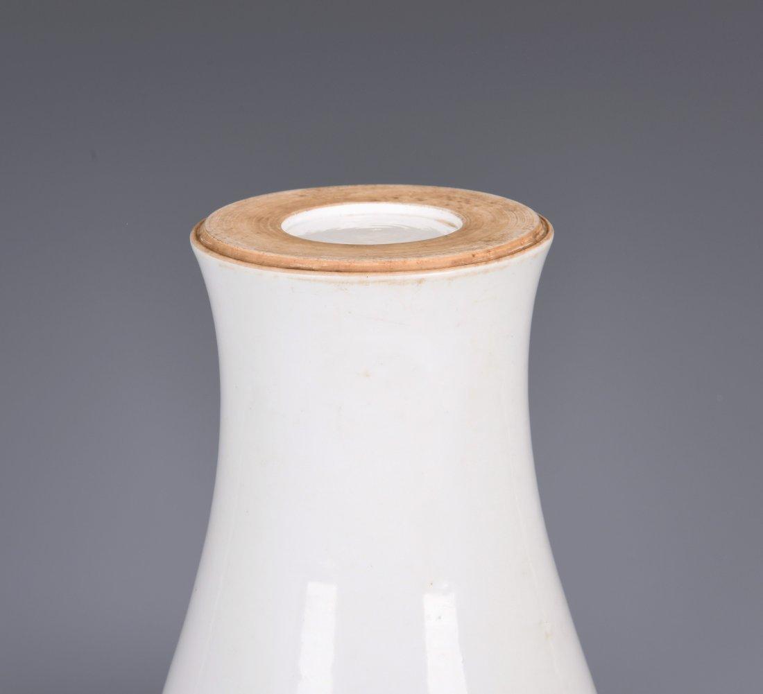 White Glazed Meiping Porcelain Vase - 9
