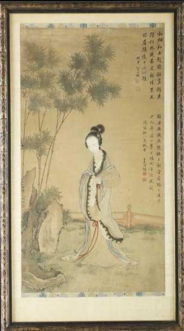 'A BEAUTY IN AUTUMN', ATTRIBUTED TO GAI QI (1774 -1829)