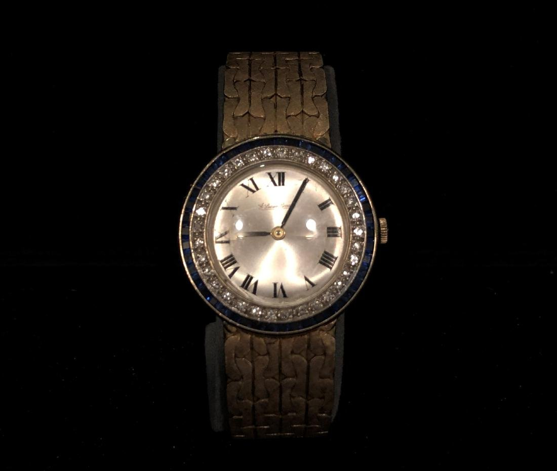 14K LUCIEN PICCARD DIAMOND AND MENS WATCH
