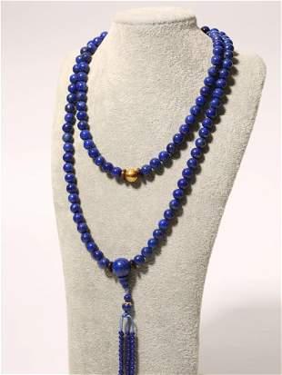 Lapis Lazuli 108 Beads Necklace