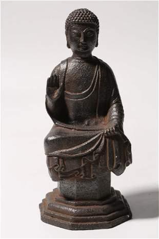Tang Bronze Figure Of Shakyamuni Buddha