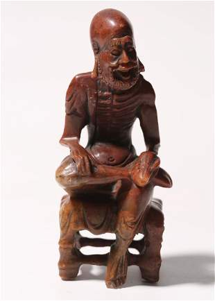 Carved Soapstone Figure Of LuoHan