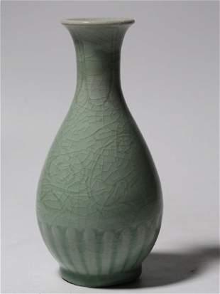 Celadon Porcelain Pear Shaped Vase