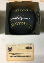 Mariano Rivera Autographed Black Leather Baseball