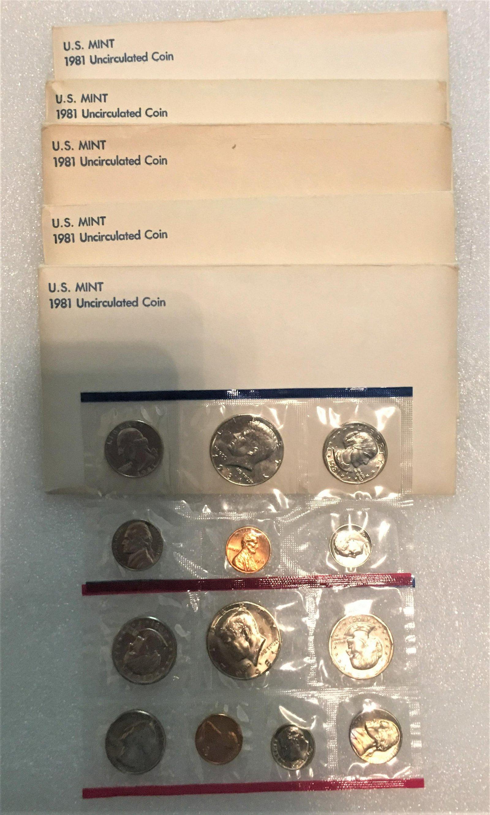 5- 1981 Uncirculated US Mint Set