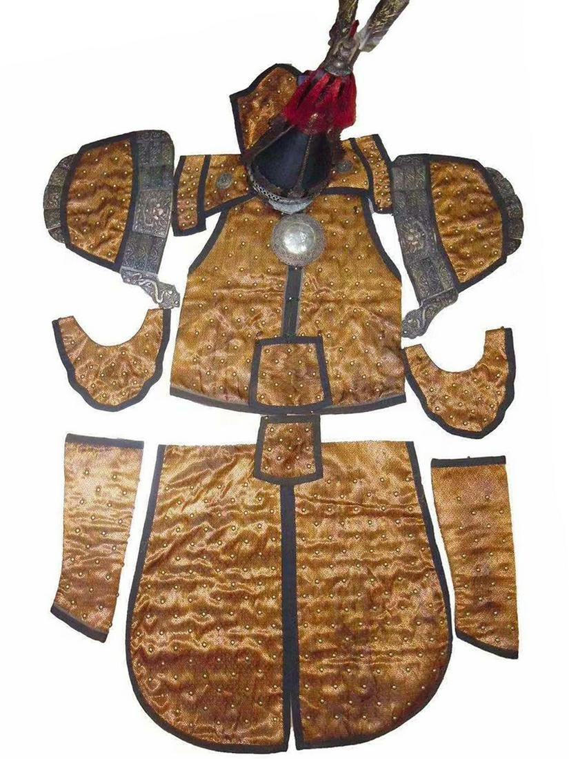 19TH C. A RARE SUIT OF CHINESE MILITARY ARMOR