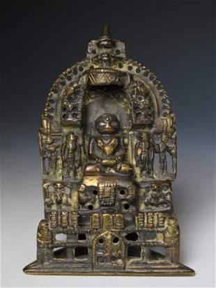 15TH / 16TH CENTURY INDIAN BRONZE JAIN