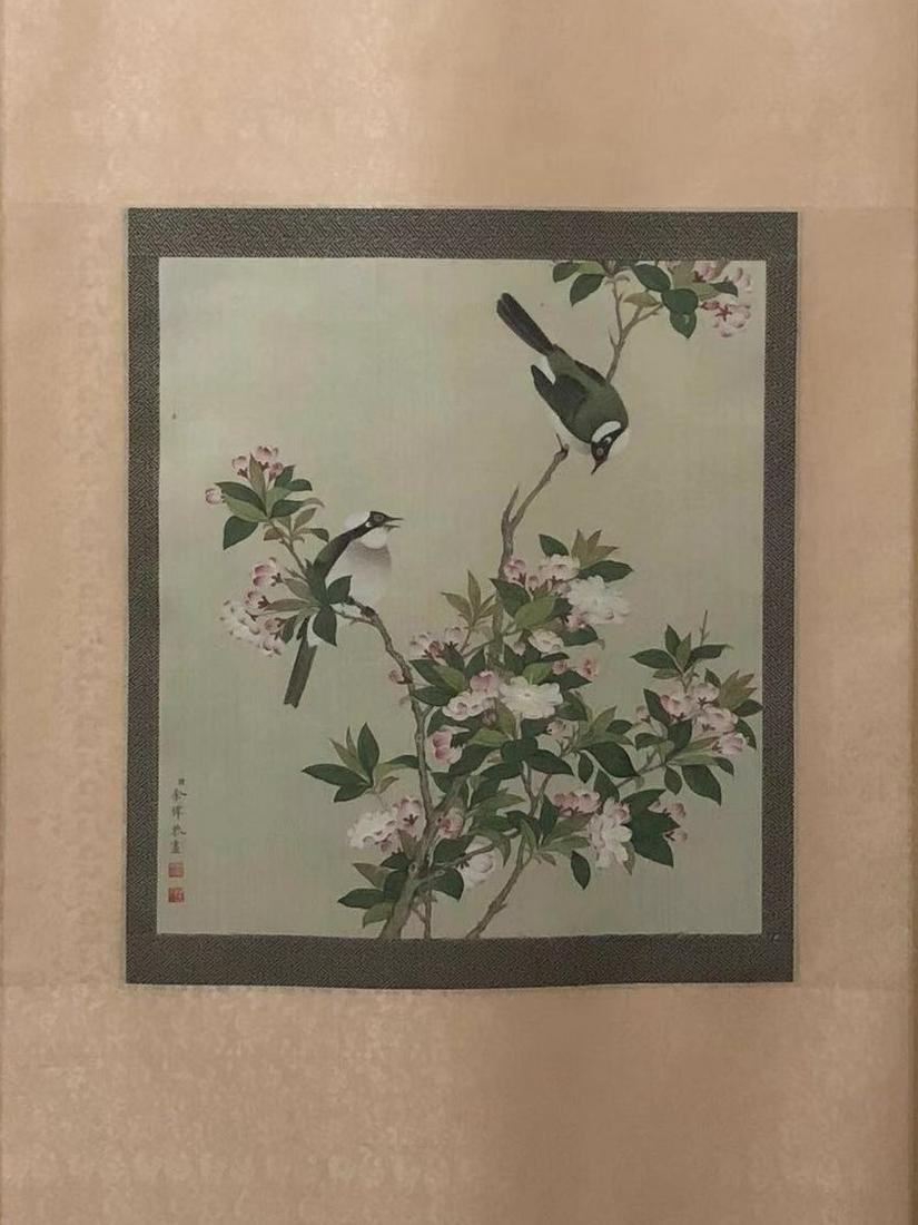 HANGING SCROLL 'BIRDS AND FLOWERS', YU XI.