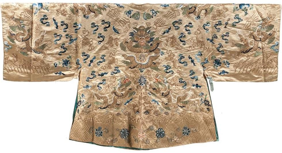 CHINESE EMBROIDERED INFORMAL DRAGON ROBE