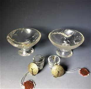 Liao Dyn. Rock Crystal & Gold-On-Silver Vessels