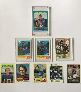 Set Of Nine Fran Tarkington Football Cards