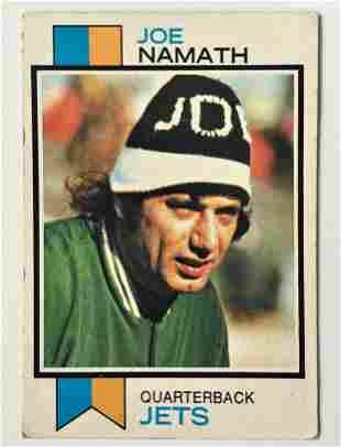 1973 Topps Joe Namath Football Card