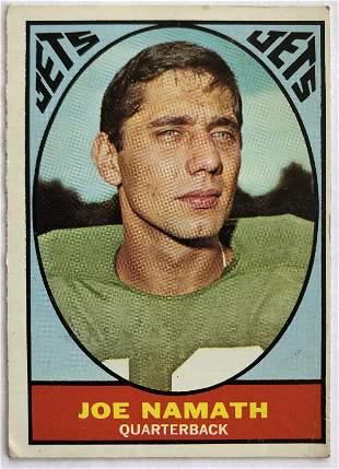 1967 Topps Joe Namath 98 Football Card