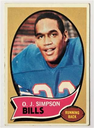 1970 Topps OJ Simpson Rookie Football Card