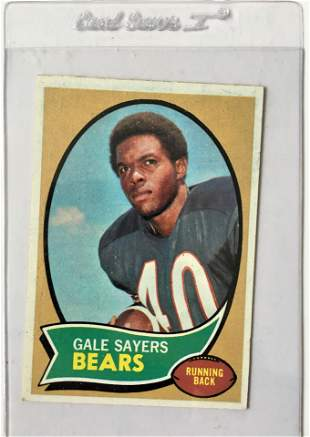 1970 Topps Gale Sayers Football Card