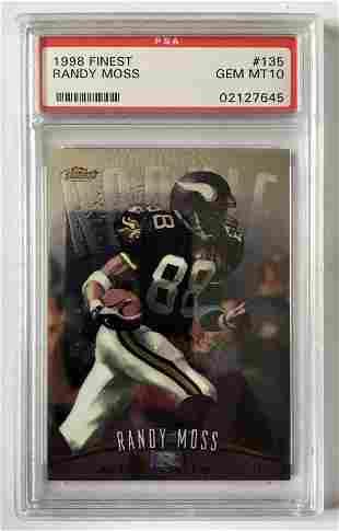 1998 Finest 135 Randy Moss PSA-10