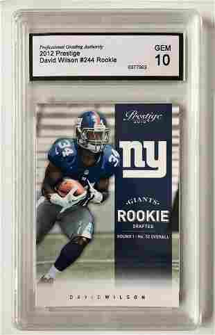 2012 Prestige David Wilson Rookie Card GEM-10