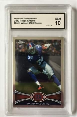 2012 Topps Chrome 189 David Wilson Rookie Card GEM 10