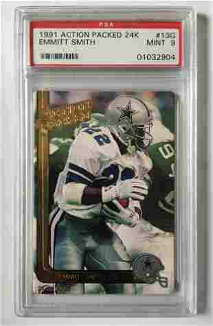 1991 Action Packed Emmitt Smith 24k Football Card