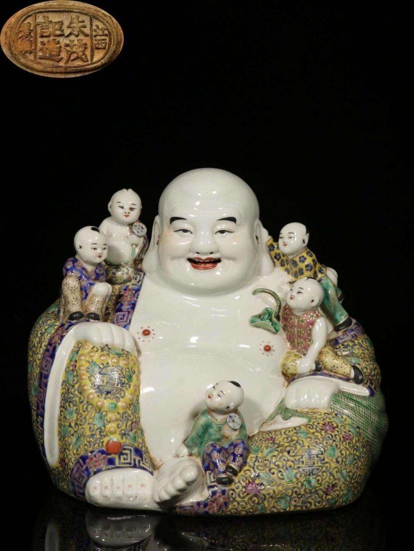 Famille Rose Porcelain Buddha