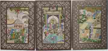 Set Of Three Persian Miniature Paintings