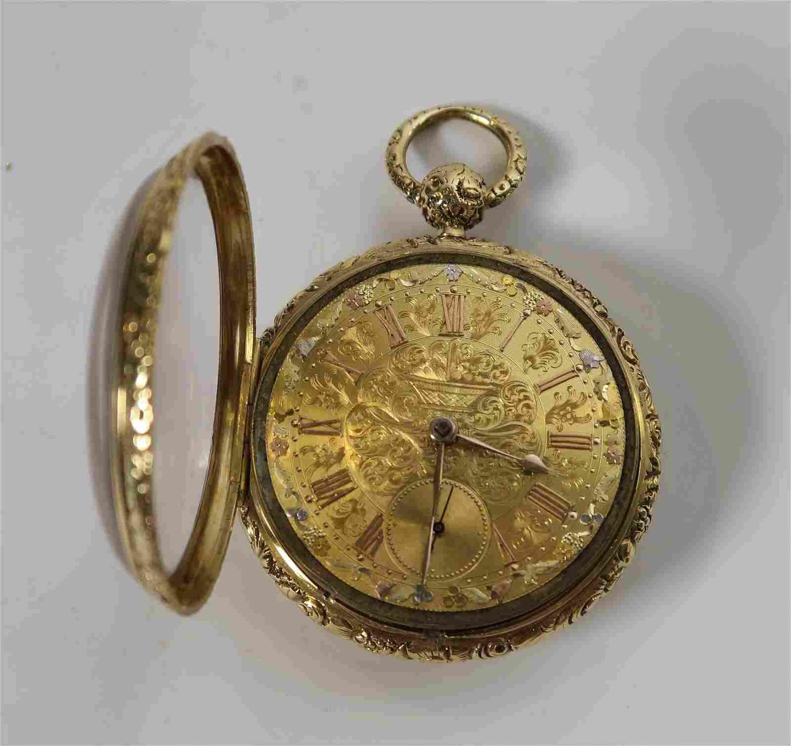 Solid 18k  Gold Pocket Watch,1820-1829