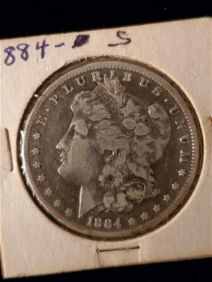 Early Morgan Silver Dollar, 1884
