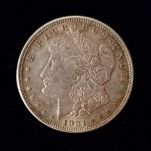 Morgan Silver Dollar, 1921