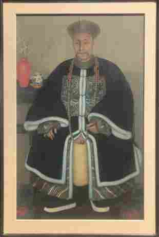 Circa 1880 Chinese Portrait Of A Military Official