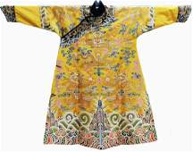 Rare and Fine Yellow-Ground Kangxi Dragon Robe