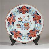 18th C. Chinese Imari Floral and Gilt Decorated Charger