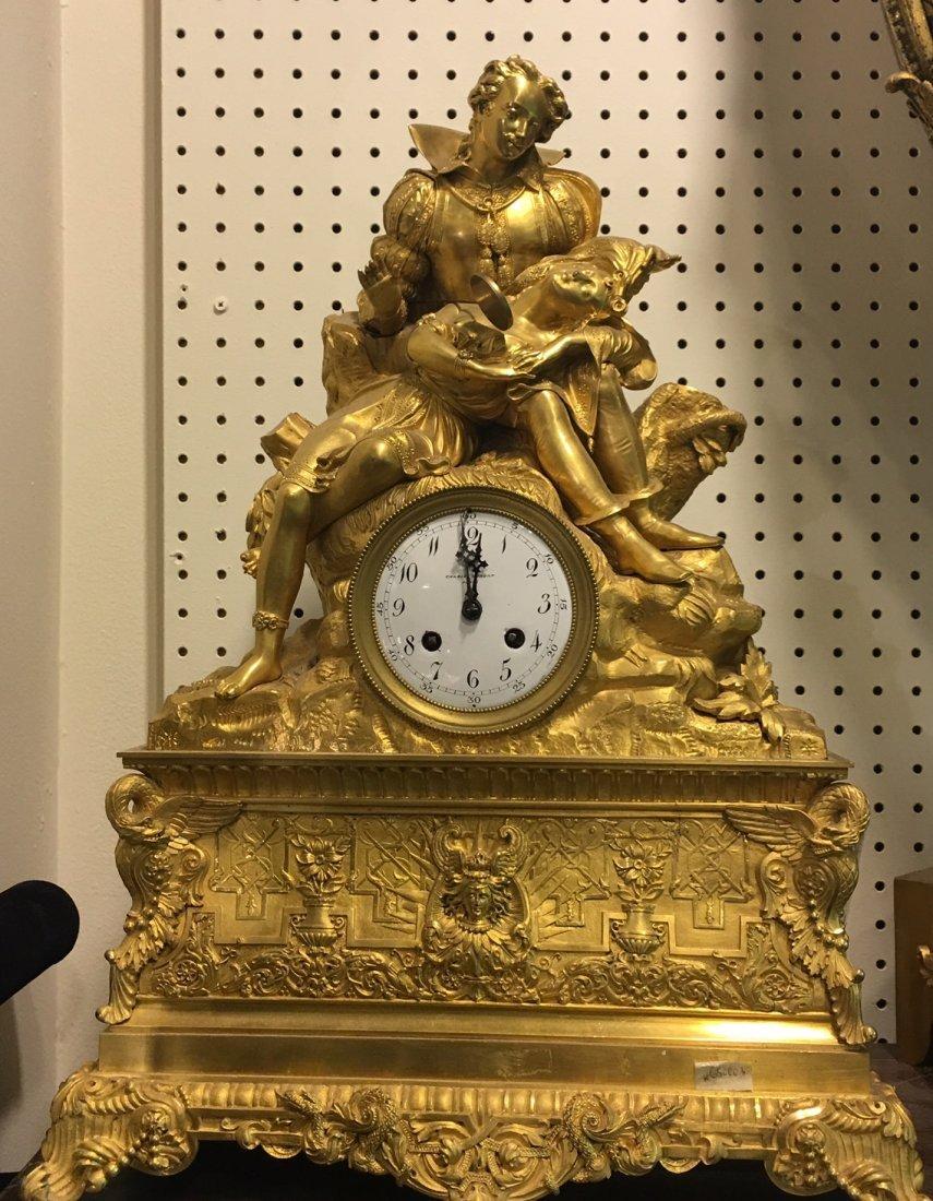 Charles Dupont large mantle clock