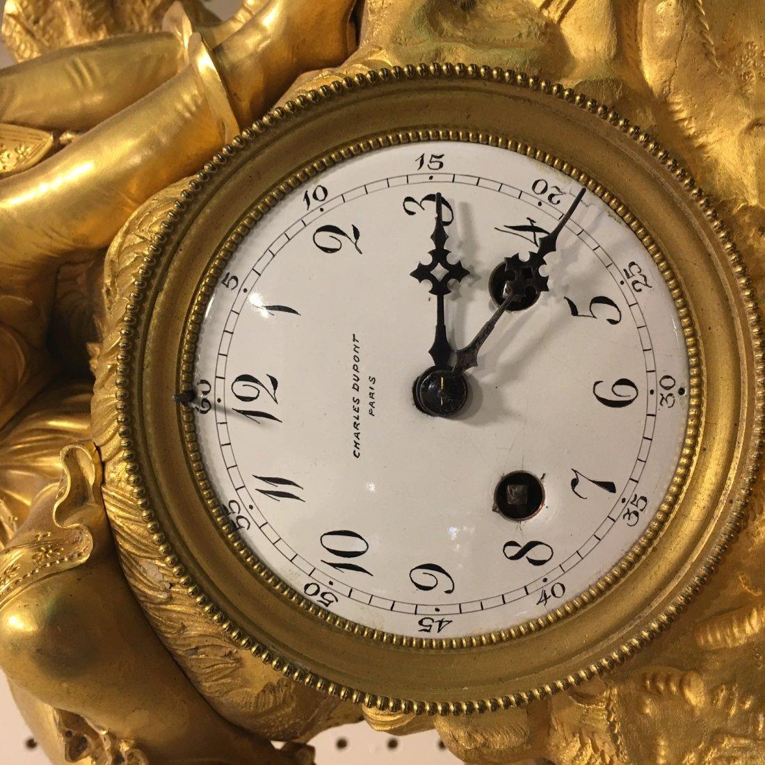 Charles Dupont large mantle clock - 4