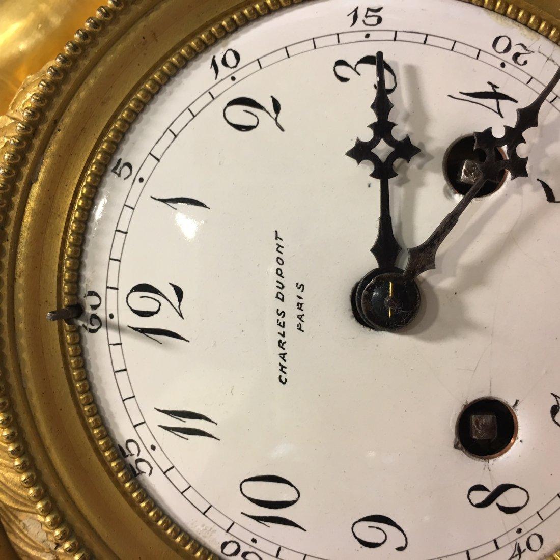 Charles Dupont large mantle clock - 5