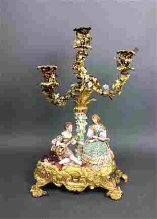 English Porcelain candleabra
