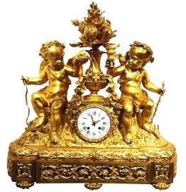 1860 c French Gilt Bronze clock