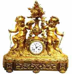 1860 c French Gilt Bronze clock