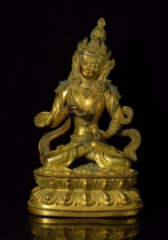 Chinese Gilt Bronze Figure