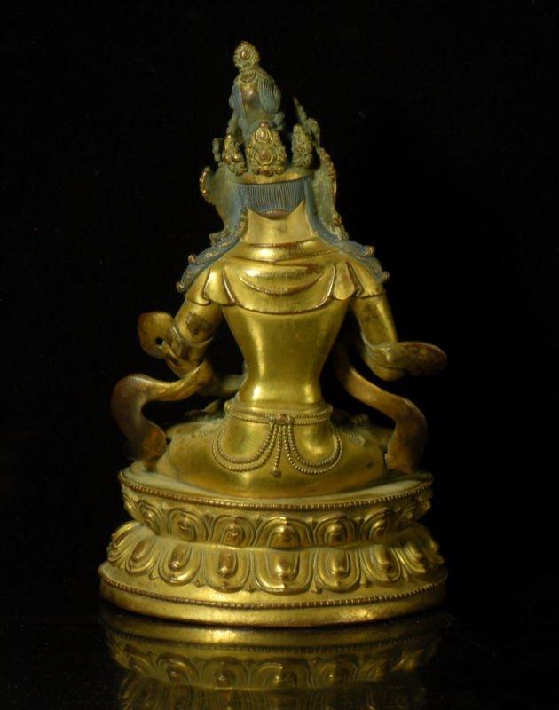 Chinese Gilt Bronze Figure - 2