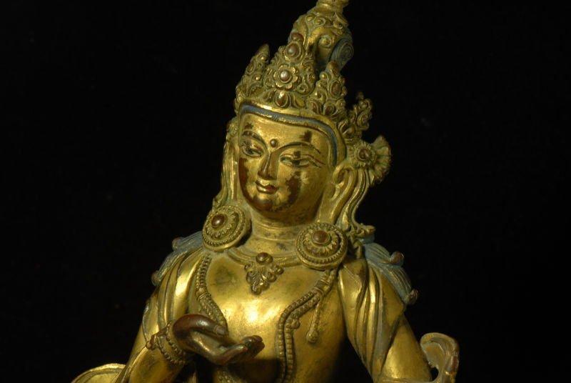 Chinese Gilt Bronze Figure - 6