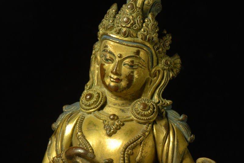Chinese Gilt Bronze Figure - 7