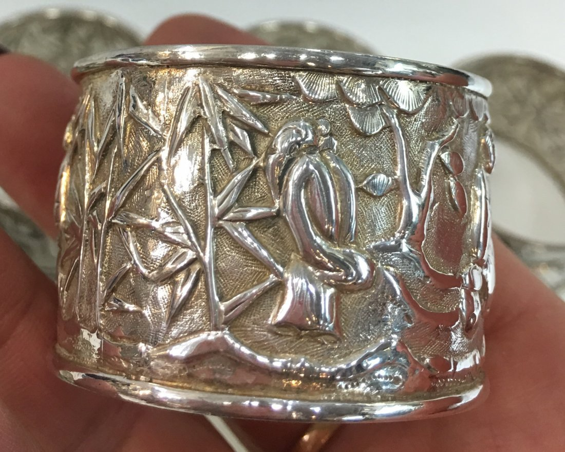12 pc Sterling Silver Napkin Rings - 4