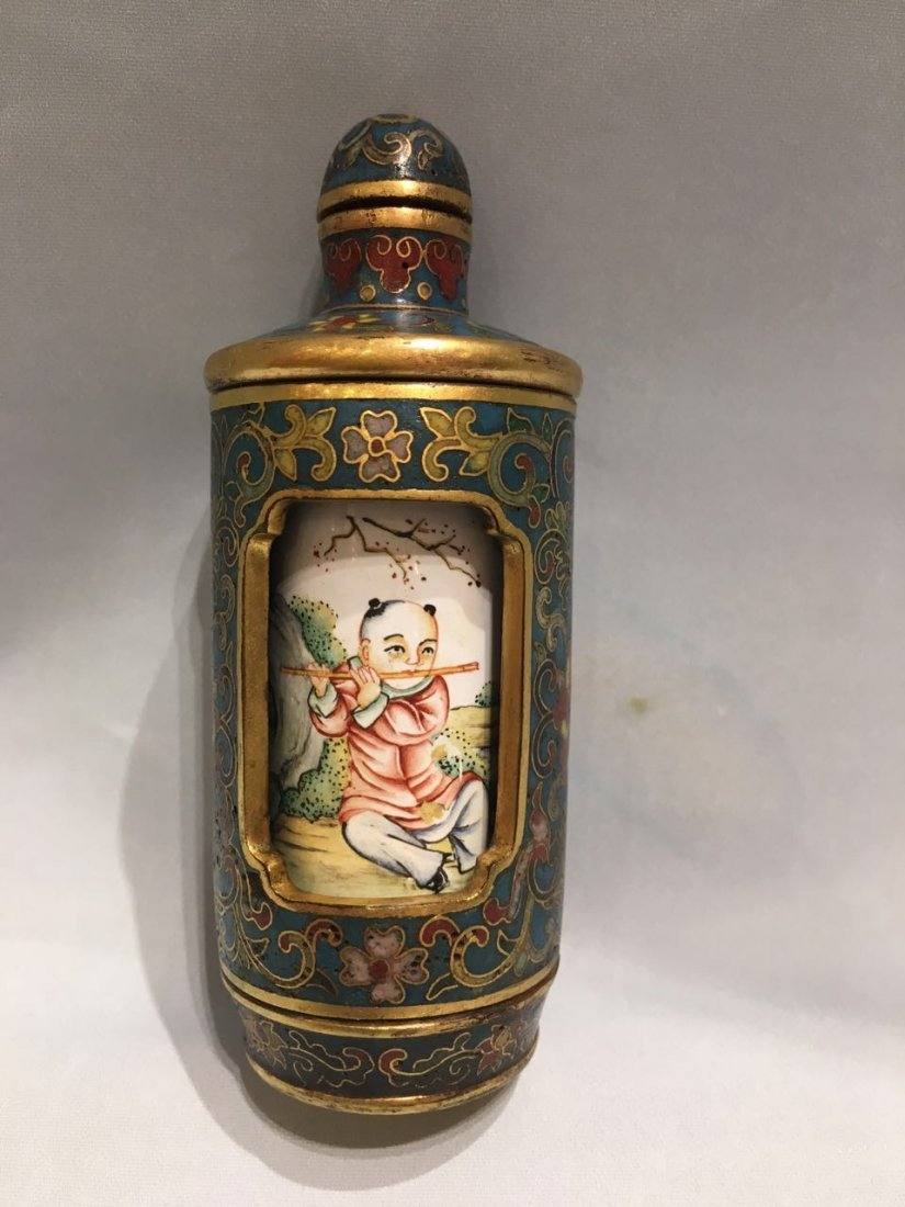 An Chinese Cloissonne Snuff Bottle With Mark - 2