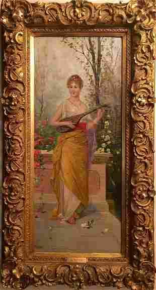 19th Century Painting Women signed J. Suss