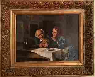 19th Century German Oil Painting