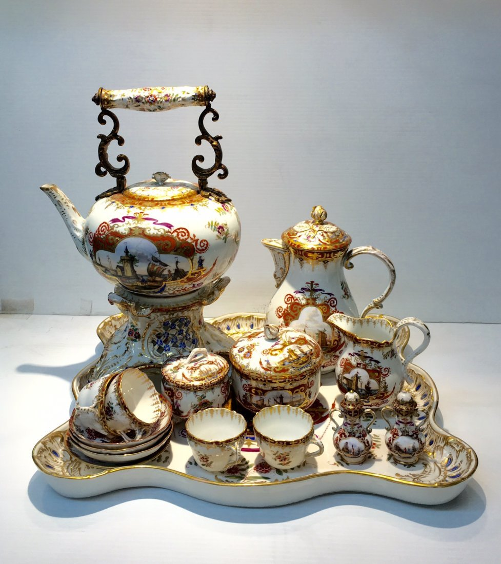 Meissen Germany Porcelain Tea and Coffee set