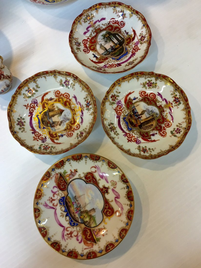 Meissen Germany Porcelain Tea and Coffee set - 4