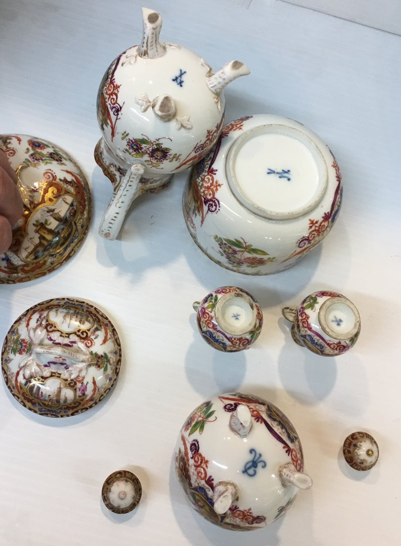 Meissen Germany Porcelain Tea and Coffee set - 7