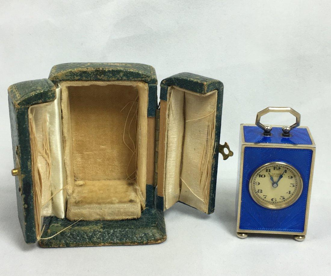 Rare E. Gubelin Lucerne Silver Clock