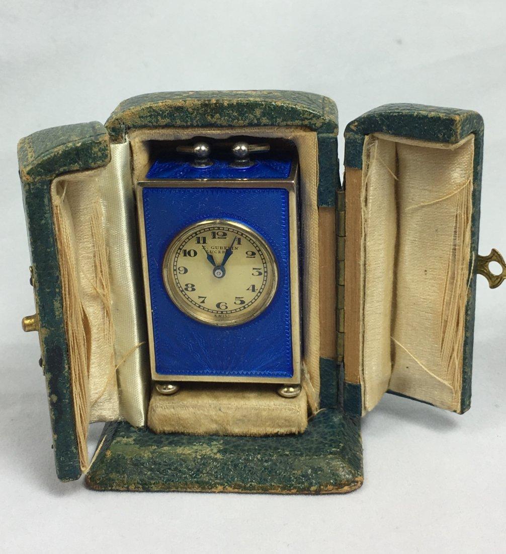 Rare E. Gubelin Lucerne Silver Clock - 2